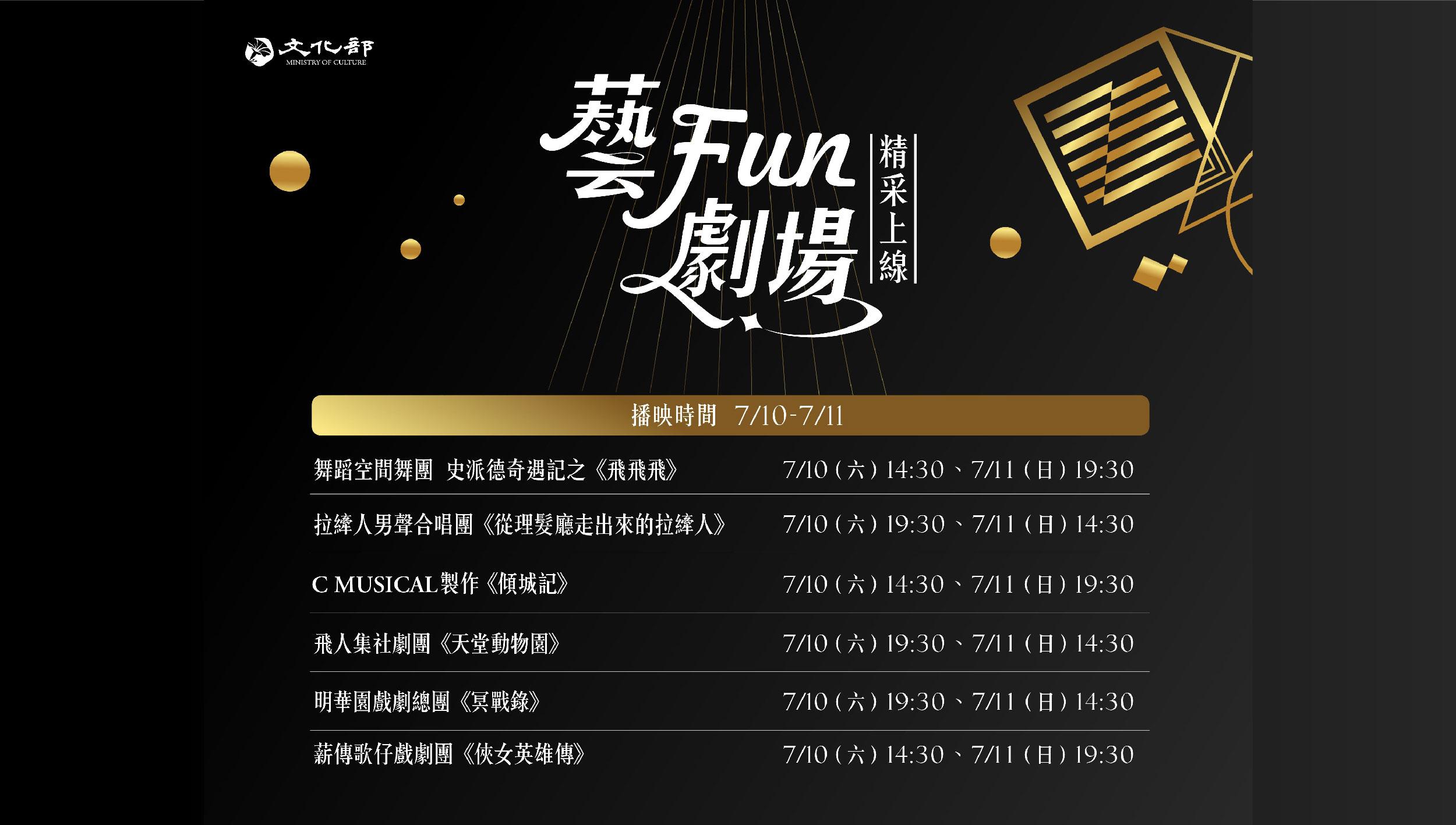 《藝Fun劇場—精采上線》 表演團隊陪伴民眾「藝」起防疫